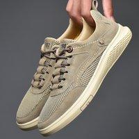 Quaoar Männer Schuhe Mode Echtes Leder Müßiggänger Atmungsaktiv Herbst Lace Up Komfortable Freizeitschuhe Outdoor Männer Turnschuhe Schuhe LJ201202