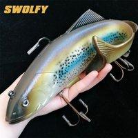 Swolfy 1pc 134g 400g tamaño grande pescado suave cebo de pesca de mar profundo señuelos de pesca de mar Switebait isca artificial suave cebo señuelo tackle de pesca 201030