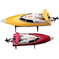 Hiinst feilun ft007 2,4g barcos de controle remoto barcos elétricos boat isca refrigerar de alta velocidade racing plástico vermelho amarelo rc barco de pesca z3