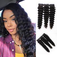 Grau 9A Brasileira Braiça Onda Loose Onda Kinky Curly Wave Deep Hair 100% Não Transformados Brasileiro Virgem Virgem Cabelo Humano Tecer pacotes