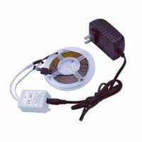 Conjunto de tiras de luz SMD3528 24W RGB de plástico 300 LED IR44 con control remoto IR (placa de lámpara blanca)