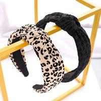 Vintage leopardo impresión diadema niñas lavado cara diadema mujer diseño anudado pelo accesorio para mujer casero cabezal