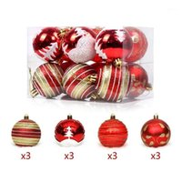 12Pcs Christmas Balls Light Bright Balls Painted Set Cute Ch...