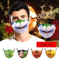 Lustige Grinch Weihnachts 3D Cotton Cosplay Gesichtsmasken waschbar wiederverwendbar einstellbar staubdicht Erwachsene Mode Gesichtsmaske Drucken