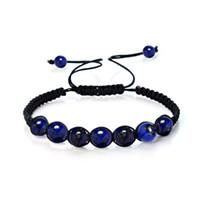 Piedra natural con cuentas Tigre ojo turquesa Strands Pulsera Mujeres Hombres Beads pulseras ajustables Joyería de moda Will y regalo de arena