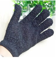 2020 New Color Black Peeling Glove Scrubber Five Fingers Exfoliating Tan Removal Bath Mitts Paddy Soft Fiber Massage Bath Glove Cleaner NL