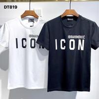 DSQ Phantom Kaplumbağa 2021SS Yeni Erkek Tasarımcı T Gömlek Paris Moda Tişörtleri Yaz DSQ Desen T-shirt Erkek En Kaliteli 100% Pamuk Top 1074