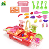 17- 22Pcs Kids kitchen Dishwash Toy Set Girls Games Miniature...