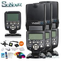 Trigger de contrôleur sans fil YONGNUO YN-560TX + 3x YN-560IV YN560IV YN560IV Affichage LCD 2.4G Flash sans fil pour SLR Cameras1