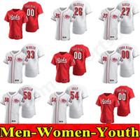 2020 الرجال النساء السيدات ريدز بيدرو ستروب جيرسي أمير غاريت سكوت Schebler أنتوني ديسكلافاني كين Griffey Jr. Eugenio Suarez البيسبول الفانيلة