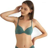 Sosteos cómodos inalámbricos para mujeres sexy lencería moda ajustada sin fisuras bralette hembra empuje hacia arriba sujetador ropa interior puro1