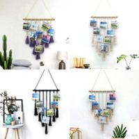 Handmade Knitting Tapestry Photo Wall Hanging Bohemian Macra...