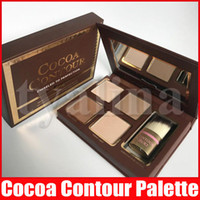 Face Cocoa Contour Chiseled To Perfection Highlighters Face Contouring And Highlighting Kit 4 Color with brush
