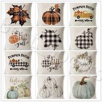 Halloween-Kissenbezug Kürbis Sofa Wurf Pillowcase Printed Kissenbezug Plaid-Kissenbezug Abdeckung Pillowslip Auto-Büro-Ausgangsdekor YYA500