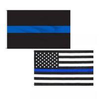 90x150cm الولايات المتحدة القماش العلم الأسود رقيقة الأزرق خماسية النجم الأمريكي راية المعمرة ذات جودة عالية لافتات قابل للغسل 4 9yh G2
