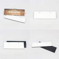 Moderno legno dipinto di legno densità fibraboard fai da te figurine di casa figurine del segno piastra sublimazione porta in bianco porta indice numeri moda 7 95bd g2