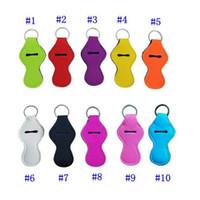 Neoprene Keychain Esportes Impresso Chapstick Holder Leopard Keychain Envoltório Batom Suportes Lip Capa Favor Favor Presente 61 Designs LXL03-1