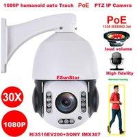 كامهي poe 1080P 30X Zoom 2MP الرؤوس الإلكترونية المسار Sony IMX 307 PTZ سرعة قبة IP كاميرا بناء Mic Speaker 32 64 128GB SD1