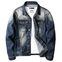 Vrokino marca 2020 primavera e outono moda novo estilo homens de alta qualidade denim jaqueta jaqueta juventude multi cor top1