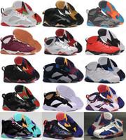 Hot Basketball Shoes 7 7S VII Mannen Zilver Retro Bordeaux Olympische Panton Pure Money Niets Raptor Homme Trainers Sport Schoen Sneaker Goedkoop