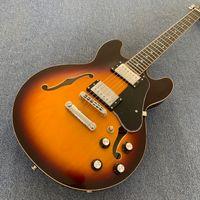Personalizzato 339 sole semi vuota di jazz della chitarra elettrica Tone-pro ponte Cromatura hardware Tastiera in palissandro Dots intarsio 190308