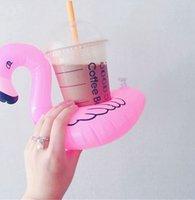 Flamingo Bardaklar Şişirir Şişme İçecek Tutucu Şamandıra Bardak Yüzme Havuzu Yaz Parti Havuzları Plaj Oyuncakları KKA8327
