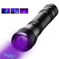 손전등 토치 UV LED 395nm 토치 램프 보라색 보라색 자외선 5 모드 줌 빛 현금,기도 구슬 18650 배터리 1