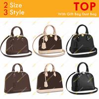 숙녀 패션 디자이너 고품질 BB PM 쉘 가방 Flowe 체커 보드 핸드백 어깨 가방 M53152 M44829 2 크기 3 스타일 무료 배송