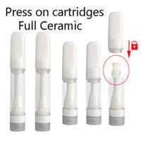 Печать на картриджах Vape 0.5 мл 1.0 мл 0,8 мл. Распылители полные керамические тележки Premium Пустые одноразовые вершины Pen 510 нитей.