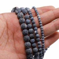 1 الرطاط 4 6 6 8 10 12 ملليمتر التجوية الحجر الطبيعي الصقيع السلطعون العوضة جولة فاصل حبة للمجوهرات صنع diy قلادة h bbygnk