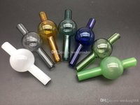 colorful Glass Carb Cap 25mm OD Directional Glass Carb Caps For Flat Top Quartz Banger Nails Glass Water Bongs Dab oil Rigs