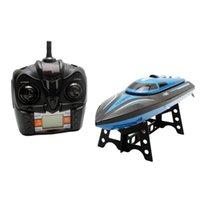 RCTOWN TKKJ H100 RC Tekne Yüksek Hız 2.4 GHz 4 Kanal 30KM / H LCD Ekran Hediye Çocuk Oyuncakları Ile Uzaktan Kumanda Tekne Yarış # X0709