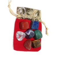 Arts et Artisanes Nature Crystal Chakra Stone 7pcs Ensemble de pierres naturelles Palme Reiki Cristaux de guérison Gemstones Accueil Décoration Accessoires YHM673-ZWL