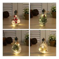 Nuevo 5 estilos LED Transparente Bola de Navidad Decoraciones de Navidad Decoraciones de árbol de Navidad Colgando Bola de plástico Bola 7 * 7 * 11CM GGE1960