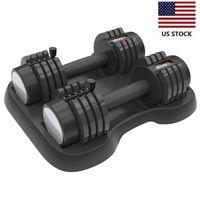 US-Aktien 1 Paar von 12,5 LB Glide Tech einstellbare Hantel Exercice Ausrüstung für Männer und Frauen Gym Gewicht W38417318