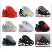 18 James Gang Oreo Gelecek Erkekler Kadınlar Spor Ayakkabı Jade Beyaz Siyah Pembe Örme 18'ler Mens Tasarımcısı Spor Sneaker LeBron