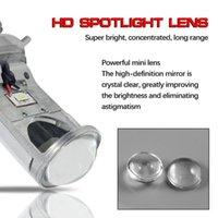 1 takım * Toptan LED Oto Far 1000LM Y6 Flip Çip Araba Otomobil Parçaları Fansız LED H4 Mini Projektör Araba Ampul H11 H1 H3 H41