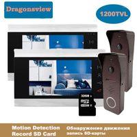 Video Door Phones DragonsView 7 Zoll Home Intercom System Türklingel Kamera für Sicherheit 2V1 1V2 2V2 Mehrere unterstützte IR1