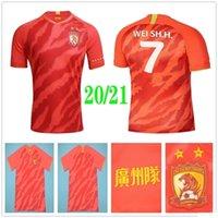 2020 Yeni Guangzhou Evergrande Futbol Formalar PAULINHO A.TALISCA ZHENG ZH. Goulart ALAN Elkeson Custom 20 21 Ev Kırmızı Hengda Futbol Gömlek