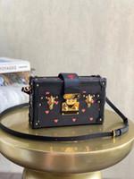 M57454 Petite Malle Bag 최고 품질의 여성 세면 용품 파우치 클러치 어깨 가방 Petite Malle 캔버스 핸드백 포켓 하드 박스 가방 M40273