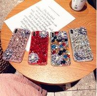 Big bling stones Camellia Crystal Diamonds Rhinestone Phone Case for iPhoneX XS XR XSMAX iPhone7 8Plus
