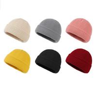 القبعات التريكو للنساء skullcap الرجال قبعة قبعة الشتاء الرجعية بريمليس فضفاض البطيخ كاب صفعة docker صياد beanies القبعات للرجال