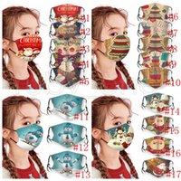 أقنعة حفلة عيد الميلاد للأطفال قابل للغسل قابل للتعديل أقنعة واقية للوجه عيد الميلاد ندفة الثلج سانتا كلوز ثلج مطبوعة تغطية الفم قناع RRA3673
