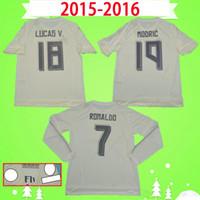 2015 2016 Ronaldo Real Madrid Fútbol Jersey Retro Benzema Camisa de Fútbol 15 16 James Vintage Camiseta de Fútbol Pepe Sergio Ramos Maillot