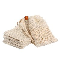New Natural Exfoliating Mesh Soap Saver Sisal Soap Saver Bag Pouch Holder For Shower Bath Foaming And Drying