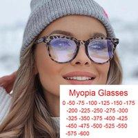 Óculos de sol Ready-feitos Miopia Leoaprad Óculos transparentes para as mulheres Homens Azul Filtro Jogo Pontos 0 -1 -2 -6 Óculos Molduras Moda