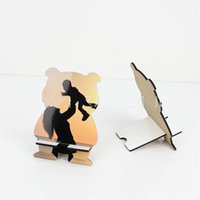 Bear Chouble мобильный телефон кронштейн сублимации пробелы телефонов стенд мультфильм формы DIY печатание древесины фото удобно 4 1bd G2