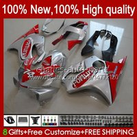 Körper für Honda VTR1000 Silvery Red RC51 SP1 SP2 00 01 02 03 04 05 06 98HC.9 VTR-1000 VTR 1000 2000 2001 2002 2003 2004 2005 2006 Verkleidungen