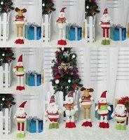 Рождественские украшения растягивать Санта Клауса снеговик Elk куклы детские рождественские подарки крытый рождественские куклы украшения db096