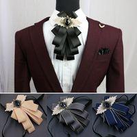 Bug Ties Herren Anzug Krawatte Kragen Blume Kleid Hemd Bräutigam Groomsman Gastgeber Männliche Hochzeit Parteizeremonie Zubehör Mehrschichtkrawatte